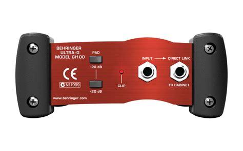 Behringer Ultra G Gi 100 Di Box behringer ultra g gi100 phantom powered di box gi100