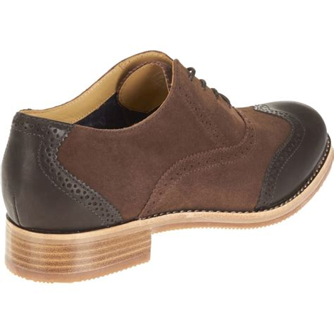 suede oxford shoes womens new womens sebago brown suede leather claremont brogue