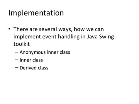 java swing event handling swing and graphical user interface in java