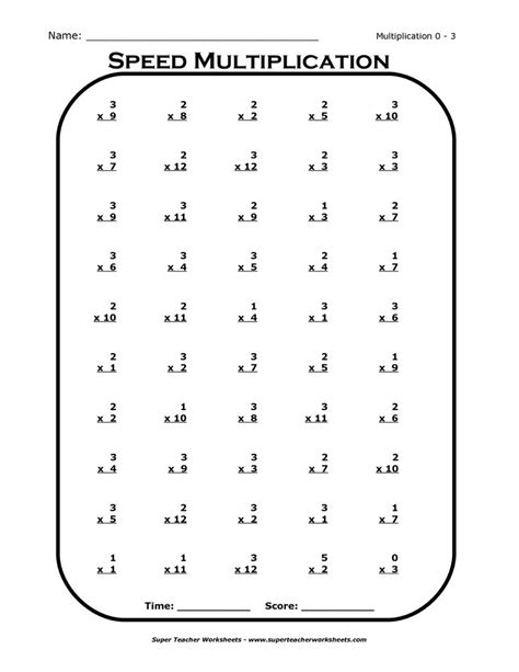 printable multiplication worksheets times 3 17 best images about projects to try on pinterest 3rd