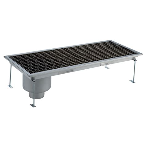 Floor Drain Stainless 2 floor drains and collecting tanks floor drain with stainless steel grate and side drain