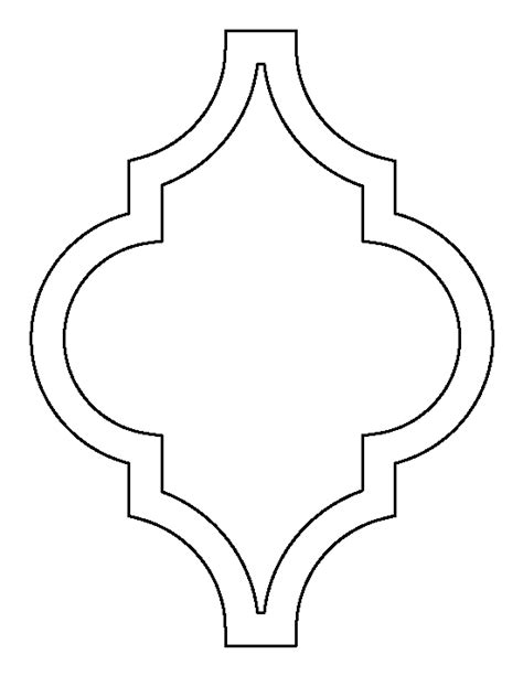 moroccan pattern use the printable outline for crafts