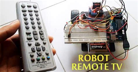 cara membuat robot remote control membuat robot kendali remote tv sony arduino sensor tsop