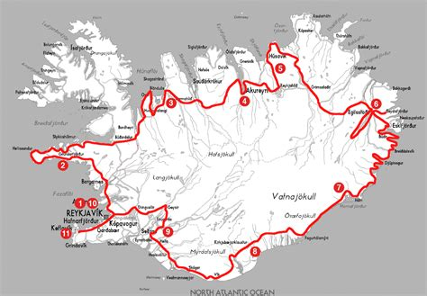 printable road map iceland iceland self drive v the ring road and snaefellsj 246 kull