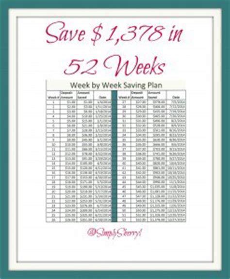 weekly saving plans in 2014 simply sherryl
