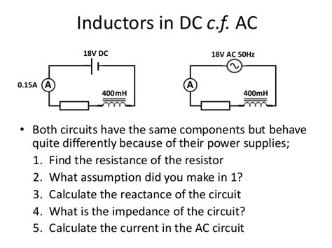inductors in ac current calculating inductor resistance 28 images ac inductance and inductive reactance in an ac