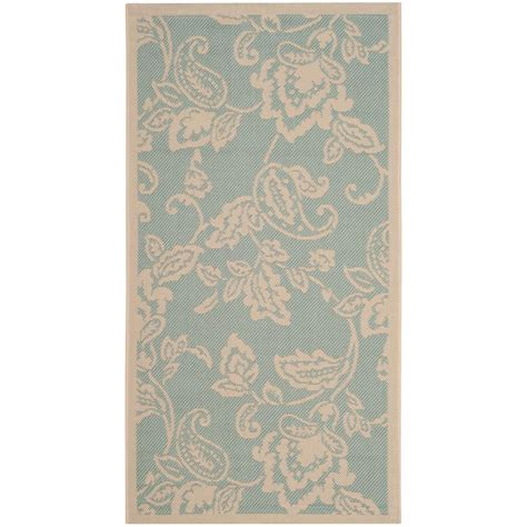 Martha Stewart Indoor Outdoor Rugs Safavieh Martha Stewart Aqua Beige 2 Ft 7 In X 5 Ft Indoor Outdoor Area Rug Msr4182 21321 3