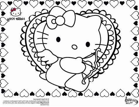 free hello kitty valentines day coloring pages free hello kitty valentine coloring pages coloring home