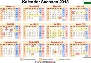 Kalender 2018 Mit Ferien Sachsen Kalender 2018 Sachsen Ferien Feiertage Pdf Vorlagen