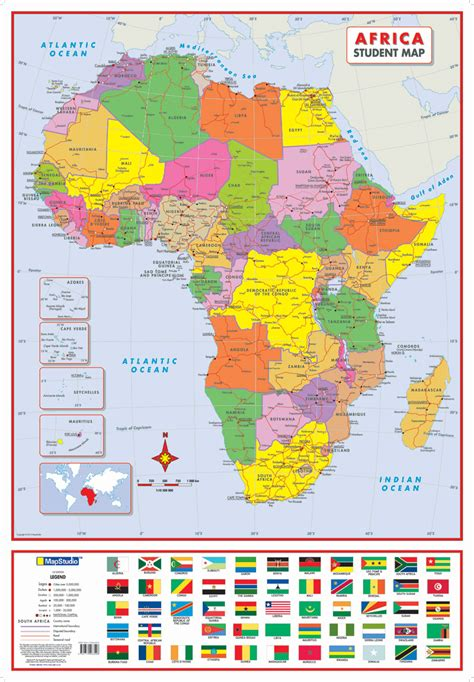 africa map poster africa political poster map mapstudio
