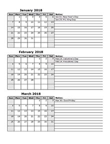 printable calendar q1 2018 2018 calendar templates download 2018 monthly yearly