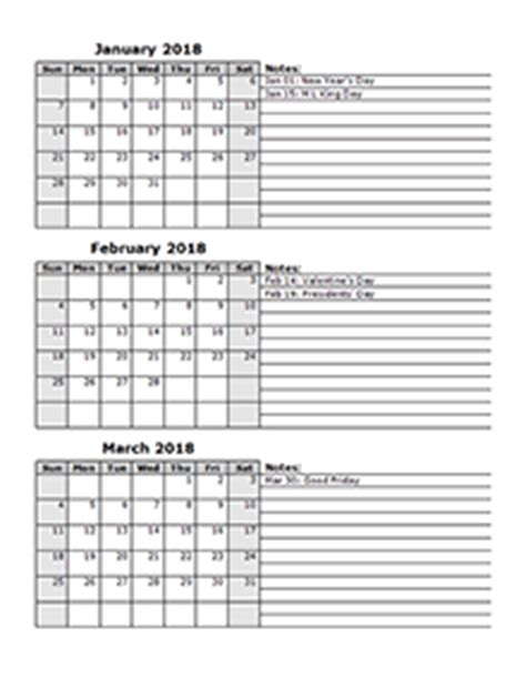 Calendar 2018 Quarters 2018 Calendar Templates 2018 Monthly Yearly