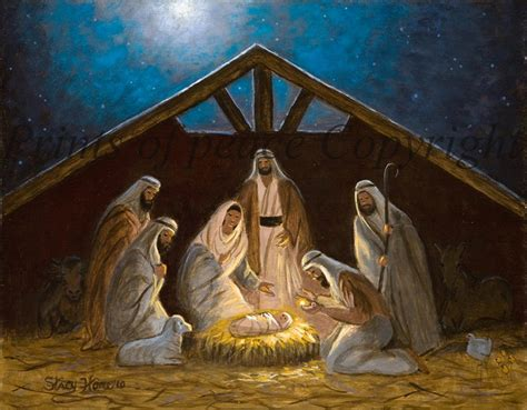 the nativity christ child nativity scene by paintingsofpeace
