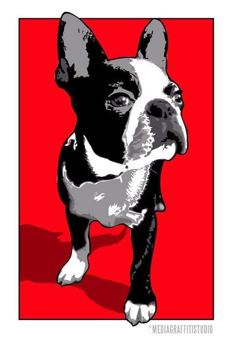puppy pop boston terrier pop by mediagraffitistudio on etsy 50 00 pets