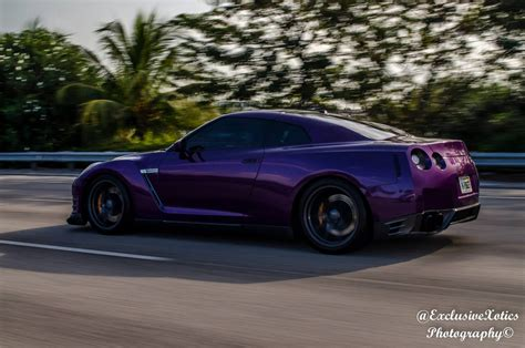 nissan purple chrome midnight purple and carbon nissan gt r