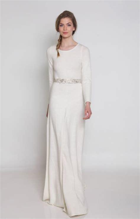 Brautkleid Langarm Schlicht by Best New Wedding Dresses The Winter Wedding And Belt