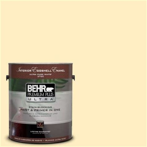 home depot behr paint yellow behr premium plus ultra 1 gal 380a 2 moonlit yellow