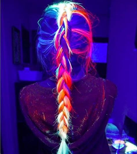 hairstyles for neon party behold your new hair obsession glow in the dark hair