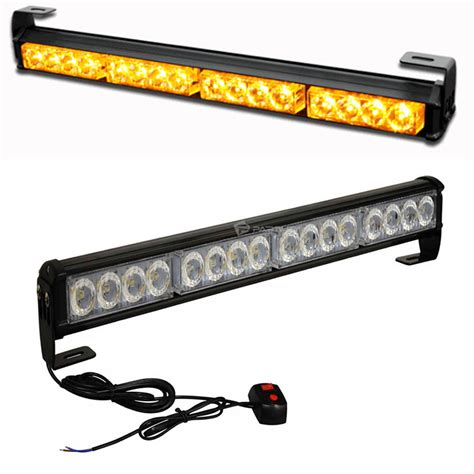 amber vehicle warning lights 18 quot 16 led emergency warning light bar traffic advisor