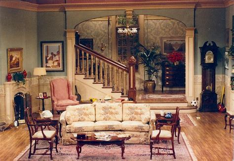 home decor tv shows setting for scenes 3 4 and 5 a rich 1980 s living room