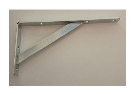 porta mensole in acciaio mensola con saetta in acciaio zinco cromato misura