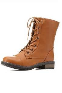 bamboo brown combat boots from atlanta by couture