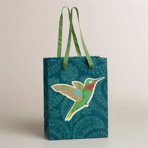Handmade Small Gifts - small tip on bird handmade gift bag world market