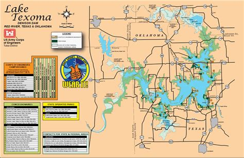 texoma texas map map lake texoma