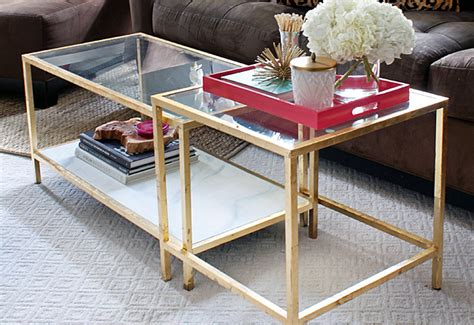 gold coffee table ikea diy tuesday easy gold ikea coffee table hack