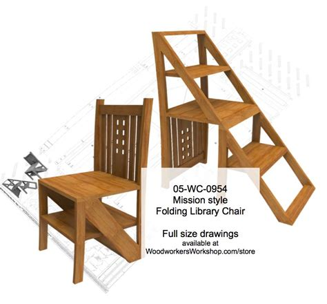 mission style chair plans 05 wc 0954 mission style folding step chair woodworking