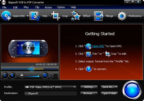 format dvd ps2 fast convert vob to psp ps3 or ps2 bigasoft vob to psp