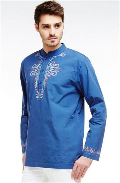 Baju Muslim Baju Koko Pria Bordir Casual Kode Ad114 Orange empat model baju muslim pria yang casual dan lagi trend