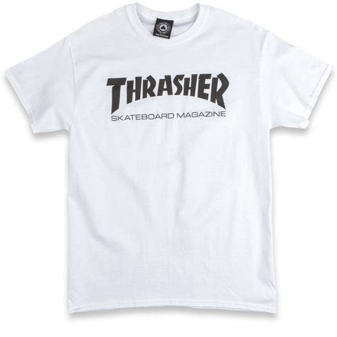 Thrasher White thrasher skate mag t shirt white