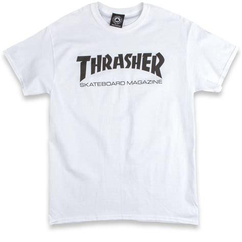 Tshirt Thrasher White thrasher skate mag t shirt white