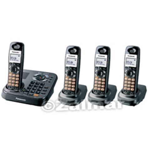 panasonic kx tg9344t dect 6 0 digital expandable 4 handset cordless phones with dual keypad
