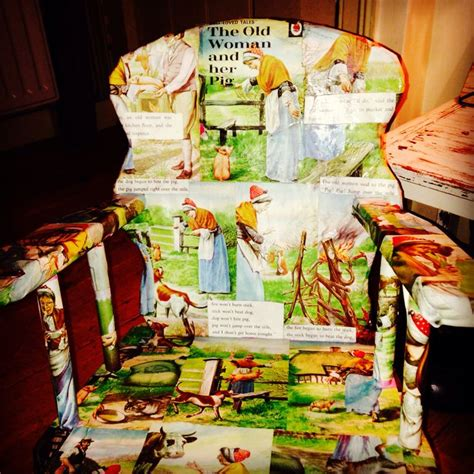 Decoupage Books - decoupage child s rocking chair with ladybird story book