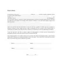 Property Damage Release Form Template by Best Photos Of Waiver Of Property Template Liability