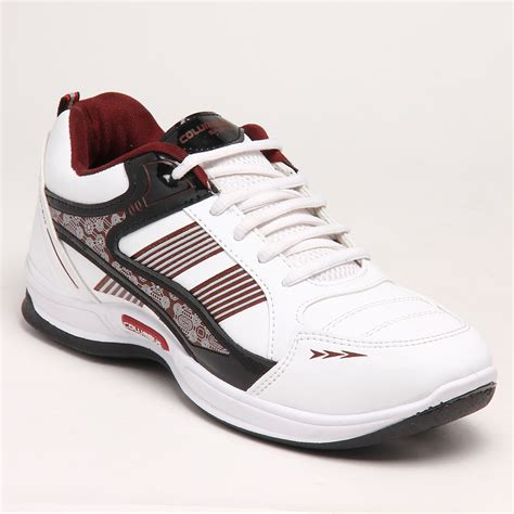 columbus sports shoes buy columbus pu sports shoes white maroon 5290