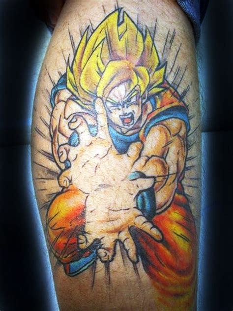dbz tattoo tattoos goku returns the dao of