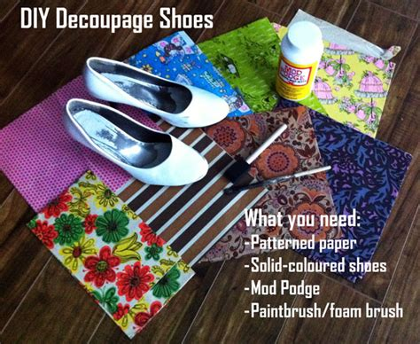 What Do You Need To Decoupage - usedeverywhere diy decoupage shoes usedeverywhere