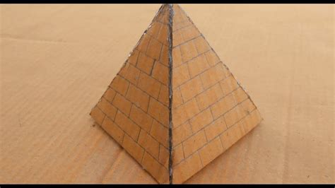 How Do You Make A Pyramid Out Of Paper - how to make a cardboard pyramid a pyramid out of
