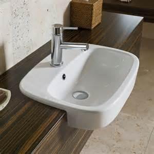 Fowler regent semi recessed vanity basin 1th
