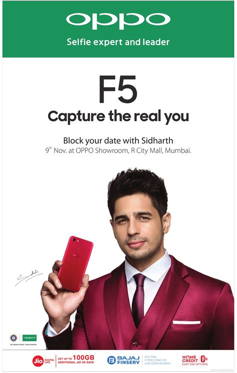 Oppo F5 Selfie Expert Leader 6gb 64gb Free Oppo X Barca Bag view collection of oppo smart phones advertisements in newspapers