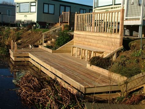garden decking ideas and tips garden edging ideas