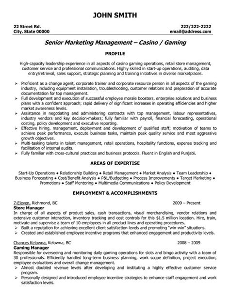 Resume Exles For Retail Stores Store Manager Resume