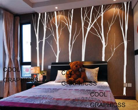 tree wall stickers for bedrooms trees vinyl wall decal by cool graphicss contemporary
