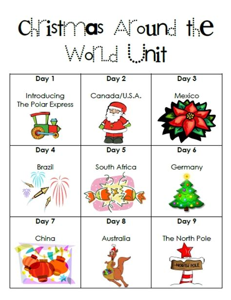 first grade garden christmas around the world and elf on