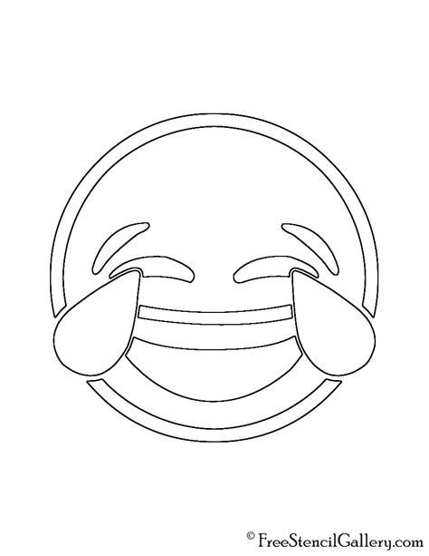 printable pumpkin stencils emoji emoji tears of joy stencil free stencil gallery