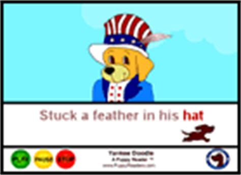 pookie doodle puppy sings his song yankee doodle song lyrics and sound clip