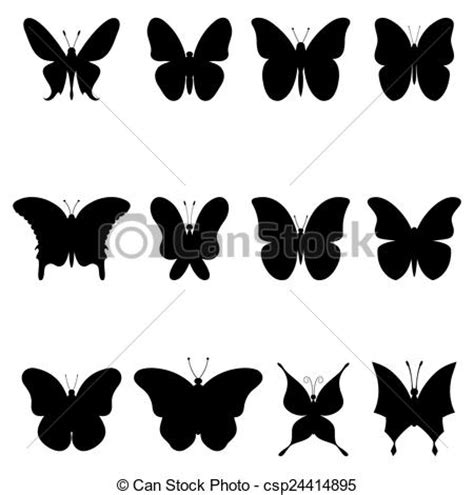 imagenes de mariposas siluetas eps vectores de siluetas mariposas negro mariposas